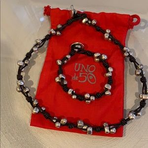 Uno De 50 Rock n Roll Choker Necklace and bracelet